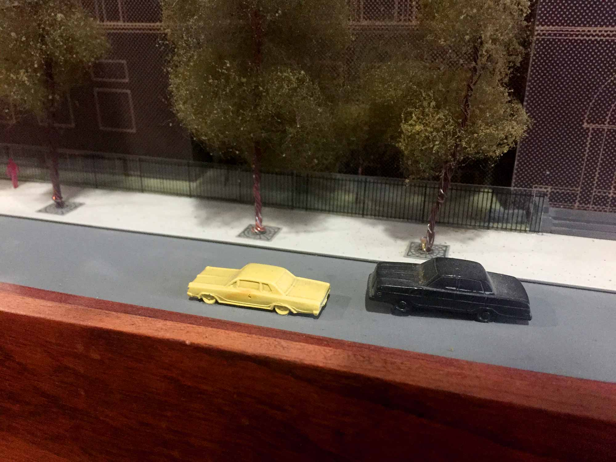 A photo of the model of the Newberry library.