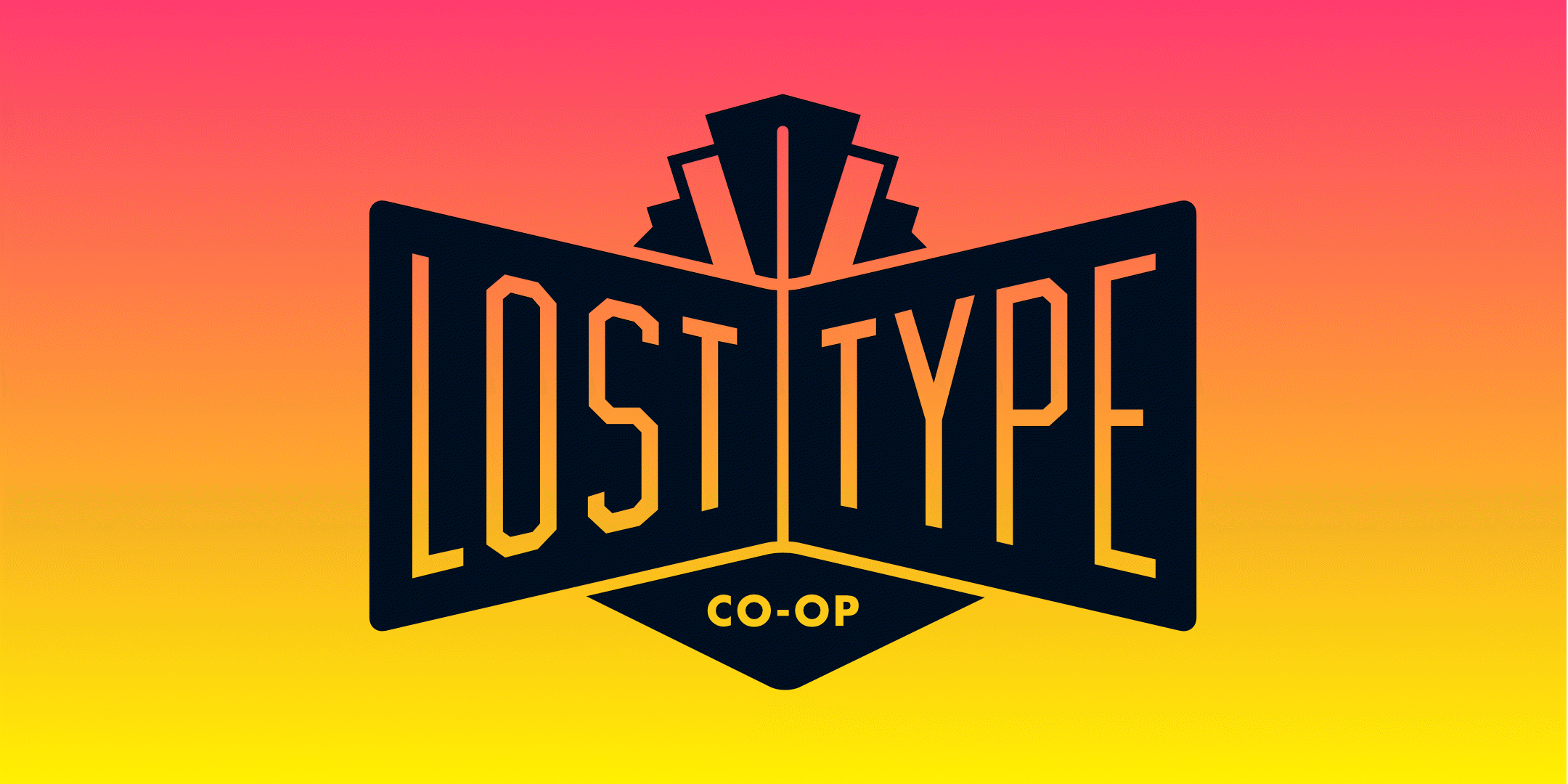 The Lost Type logo on a gradient background.