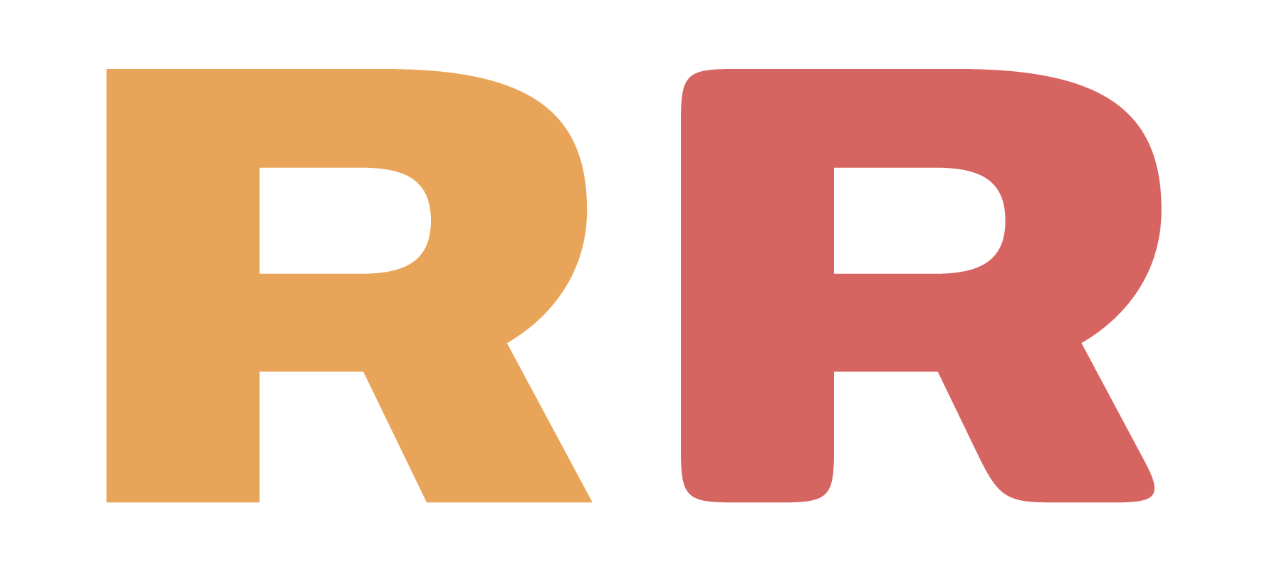 Non-rounded and Rounded versions of the 'R' from the extended semibold weight of SONIC Sans
